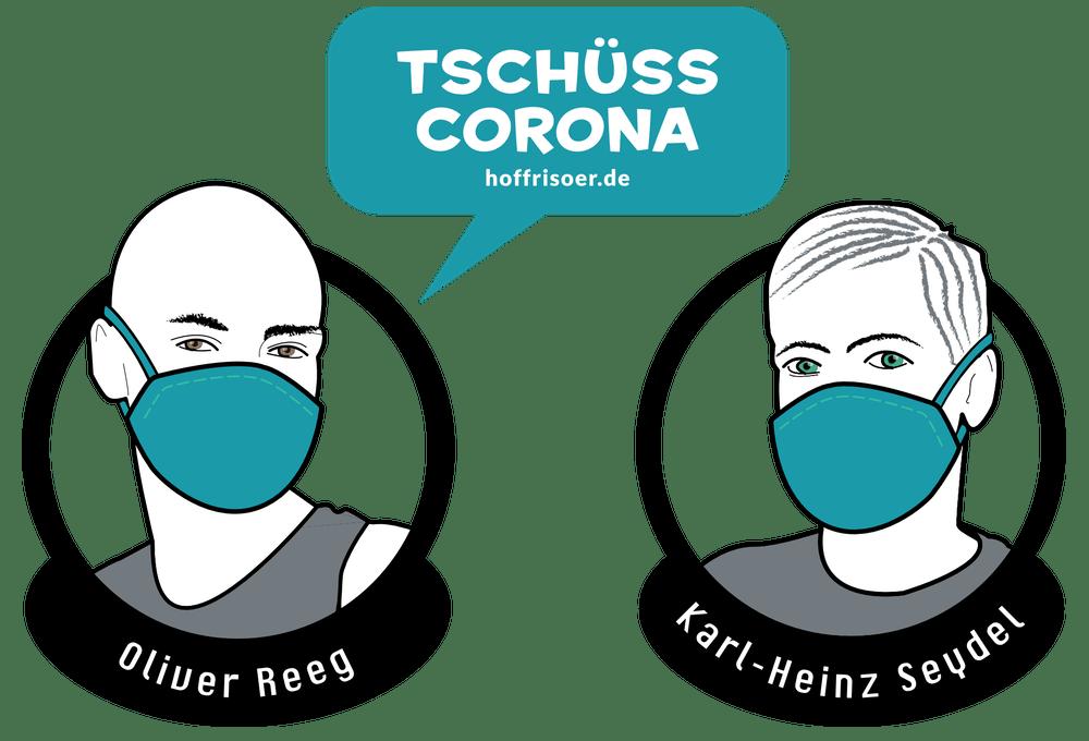"""April 2020 """"Tschüss CORONA"""": HOF FRISÖR ist schon bald wieder geöffnet. Bis dahin machen wir Luft-Haarschnitte, damit wir am ersten Tag quietschfidel sind …"""