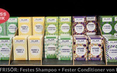 Neuheiten aus der KLAR Seifenmanufaktur: 6 feste Conditioner als glanzvolle Ergänzung zu den beliebten festen Shampoos
