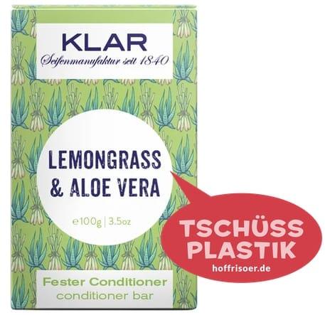 """Fester Conditioner """"Lemongrass  & Aloe Vera"""" von KLAR gibt es beim HOF FRISÖR in Frankfurt am Main zu kaufen …"""
