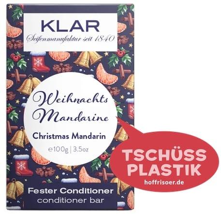 """Fester Conditioner """"Weihnachts-Mandarine"""" von KLAR gibt es beim HOF FRISÖR in Frankfurt am Main zu kaufen …"""