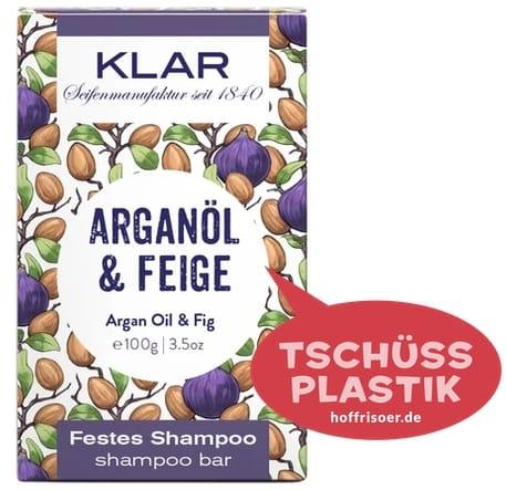 """Festes Shampoo """"Arganöl  & Feige"""" von KLAR gibt es beim HOF FRISÖR in Frankfurt am Main zu kaufen …"""