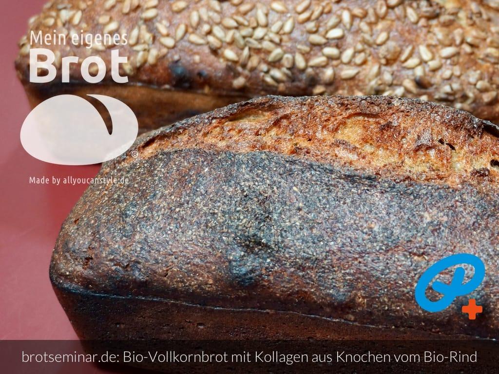 © 2021 by brotseminar.de: Bio-Vollkorn-Brot mit Kollagen aus Knochen vom Bio-Rind von BROX
