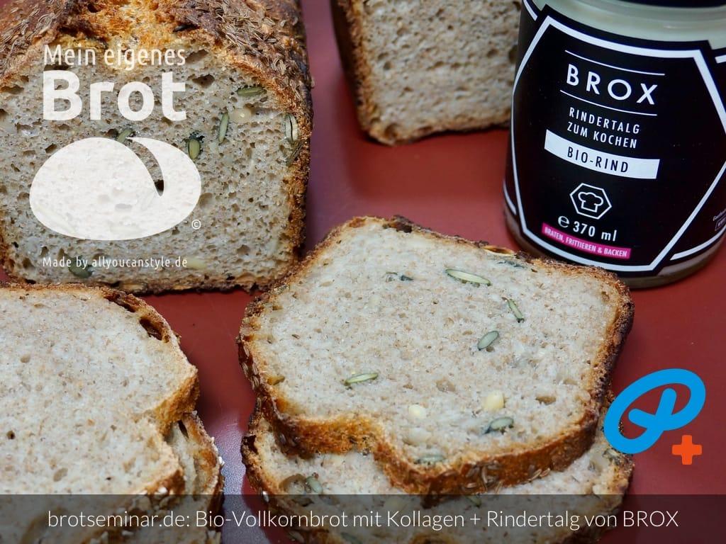 © 2021 by brotseminar.de: Bio-Vollkorn-Brot mit Kollagen aus Knochen vom Bio-Rind + Rindertalg von BROX