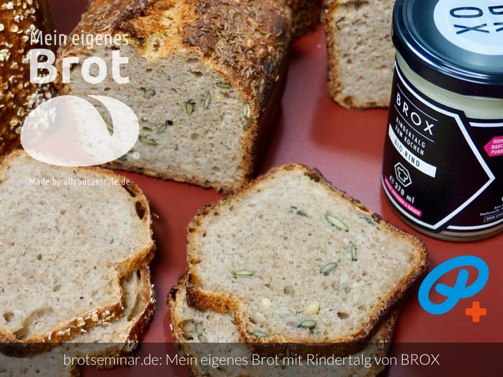 © 2021 by brotseminar.de: Mein eigenes Brot mit Kollagen aus Knochen vom Bio-Rind + Rindertalg von BROX
