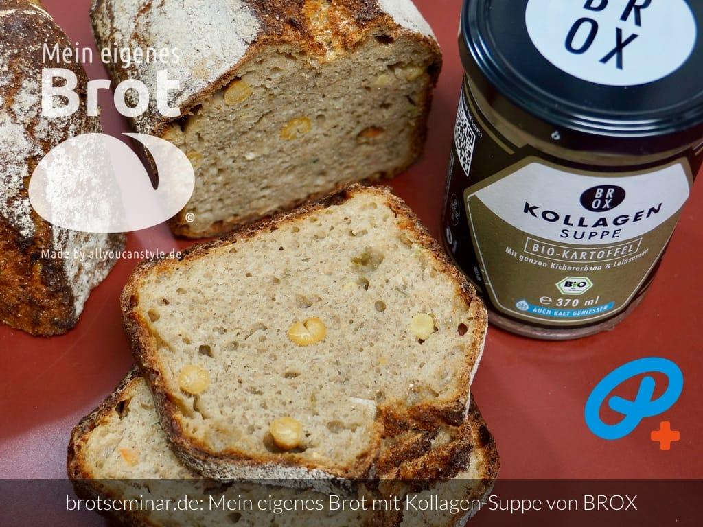 © 2021 by brotseminar.de: Mein eigenes Brot mit Bio-Kraft-Suppe, Kollagen aus Knochen vom Bio-Rind + Rindertalg von BROX